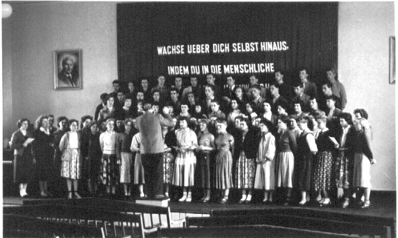 1957 Probe mit Herrn Heinz Salmon